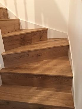Solid Oak Winding Staircase