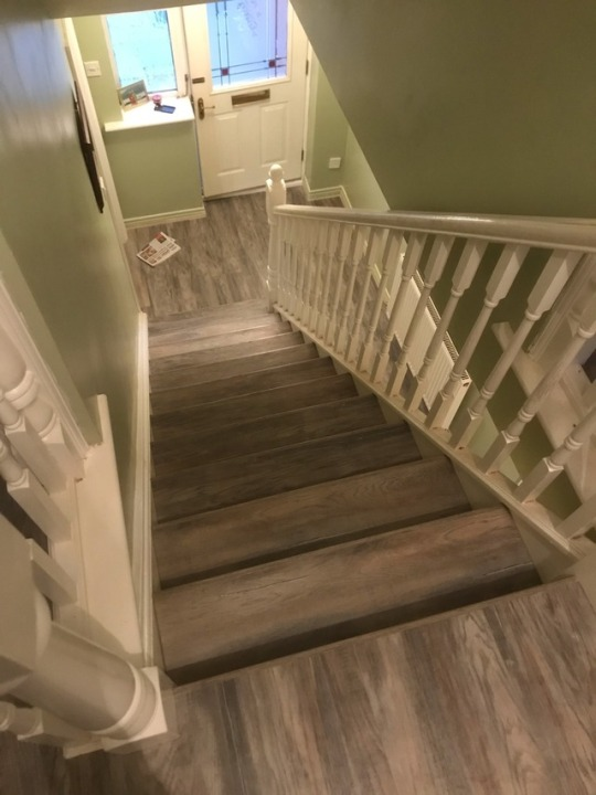 staircases Grey laminate flooring